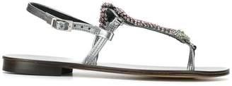 Emanuela Caruso embellished snake strap sandals