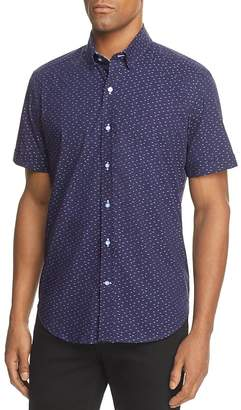 Robert Graham Tobias Embroidered Dot Short Sleeve Button-Down Shirt - 100% Exclusive