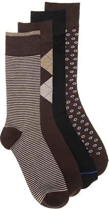 2b3b929f47b Aston Grey Thin Stripe Crew Socks - 4 Pack - Men s