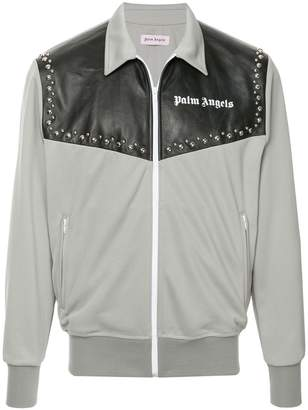 Palm Angels logo print shirt jacket