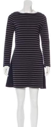 Sacai Striped Mini Dress