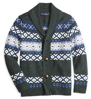 Brooks Brothers Boys' Wool Shawl-Collar Cardigan - Big Kid