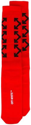 Off-White arrows print socks $74 thestylecure.com