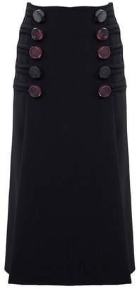 CHRISTOPHER ESBER Double Barrel Resin Button Slit Skirt