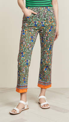 Tory Burch Printed Denim Pants
