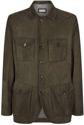 Brunello Cucinelli Suede Safari Jacket