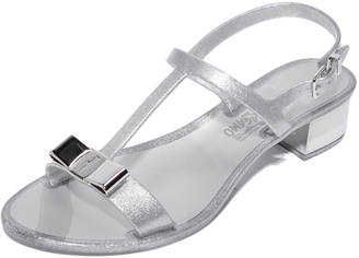 Salvatore Ferragamo Favilia Jelly City Sandals $280 thestylecure.com