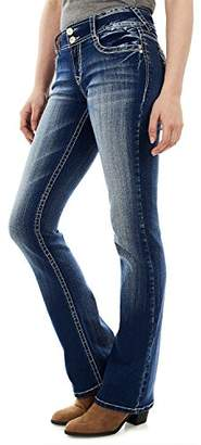 WallFlower Jeans Junior's Instastretch Luscious Curvy Bootcut Jeans