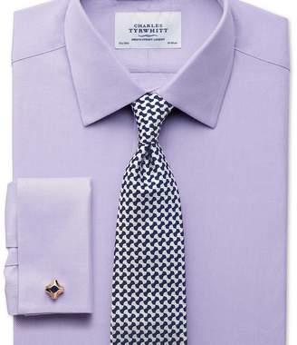 Charles Tyrwhitt Slim fit Egyptian cotton cavalry twill lilac shirt