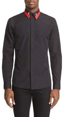 Men's Givenchy Colorblock Collar Woven Shirt $520 thestylecure.com