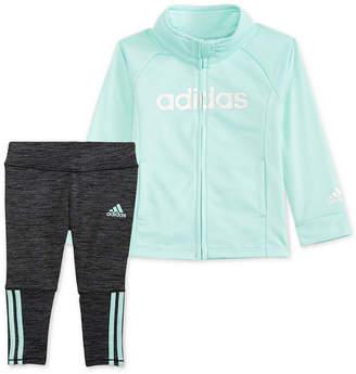 2a60ab576 adidas Baby Girls 2-Pc. Front-Zip Jacket & Leggings Set