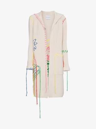 Mira Mikati Embroidered Hooded Long Cardigan