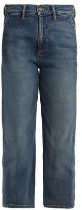 Vince (ヴィンス) - VINCE Straight-leg stretch-denim cropped jeans