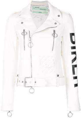 Off-White Biker print jacket