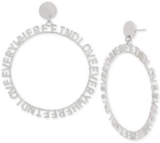 "BCBGMAXAZRIA BCBGeneration ""Find Love Everywhere""2 1/2"" Drop Hoop Earrings"