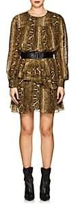 Etoile Isabel Marant Women's Java Chiffon Minidress - Brown