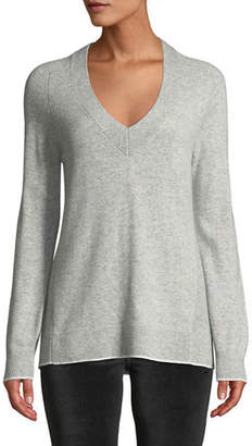Rag & Bone Yorke Cashmere V-Neck Sweater with Mesh Panels