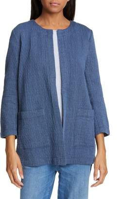 Eileen Fisher Quilted Cotton & Linen Jacket