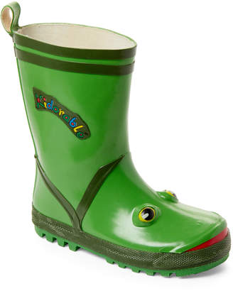 Kidorable Toddler/Kids) Green Frog Rain Boots