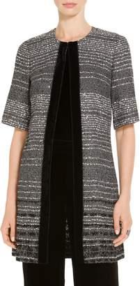 St. John Degrade Sequin Stripe Knit Jacket