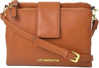 LIZ CLAIBORNE Liz Claiborne Double Top-Zip Crossbody Bag $50 thestylecure.com