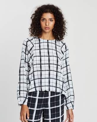 SABA Madras Check Blouse