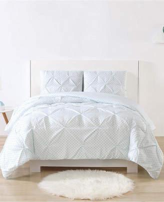 Laura Hart Kids Printed Dot Pinch Pleat 2-Pc. Twin/Twin Xl Duvet Cover Set Bedding