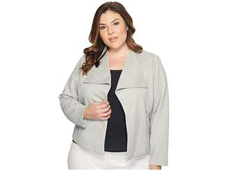 Calvin Klein Plus Plus Size Textured Flyaway Women's Jacket