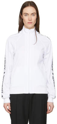 Givenchy White and Silver Logo Track Jacket