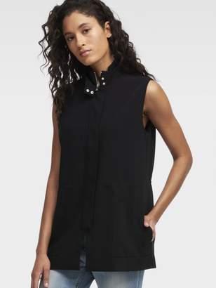 DKNY Ribbed Collar Vest
