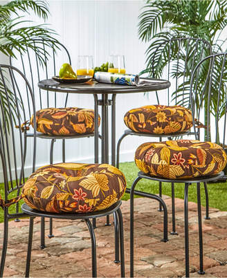 Greendale Home Fashions Set of 4 Round Outdoor Bistro Chair Cushion