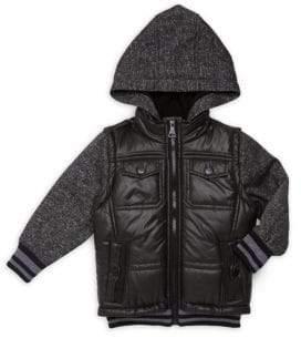 Urban Republic Little Boy's & Boy's Fleece Hooded Jacket