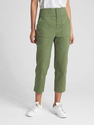 Gap High Rise Crop Chinos with Button-Fly