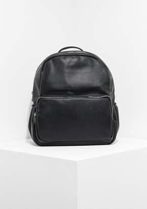 Missy Empire Missyempire Skye Black Faux Leather Backpack