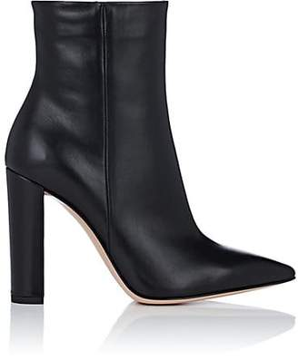 Gianvito Rossi Women's Piper Leather Ankle Boots - Black