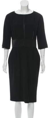 J. Mendel Long Sleeve Midi Dress