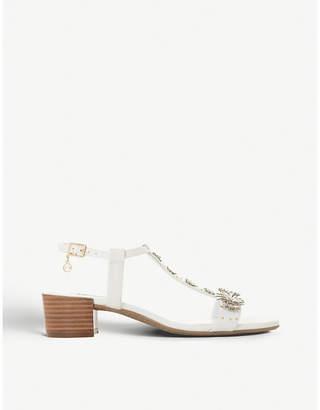fc1c9e007e Dune Iyris floral t-bar leather sandals
