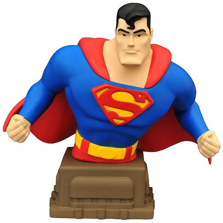 Diamond select toys Superman Animated Series Superman Bust Bank by Diamond Select Toys