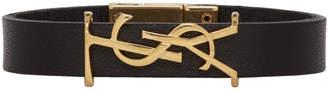 Saint Laurent Black Monogramme Bracelet