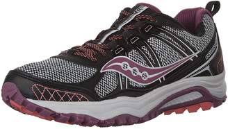 Saucony Women's Excursion TR10 Running Shoes, Black/Berry/Coral