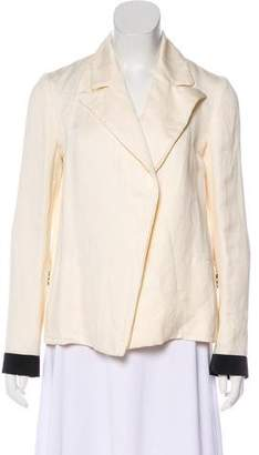 Lanvin Linen-Blend Open Front Blazer