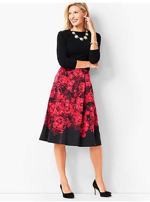 Talbots Floral Pleated Skirt