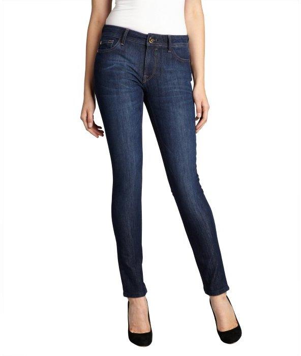 DL1961 Premium Denim bolt blue medium wash stretch denim 'Amanda' skinny jeans