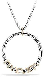 David Yurman Women's Helena Large Pendant Necklace with Diamonds and 18K Gold