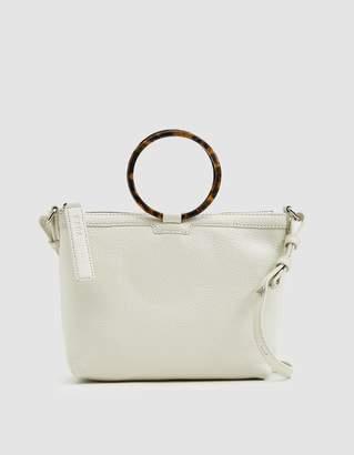 Kara Ring Crossbody Bag in White