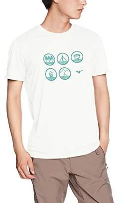 Mizuno (ミズノ) - [ミズノ] アウトドアウェア スパン天竺半袖プリントTシャツ 吸汗速乾 UVカット 制菌部屋干し対策 メンズ A2MA8046 ホワイト L