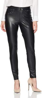 Hue Women's Plus-size Leatherette Leggings Sockshosiery,