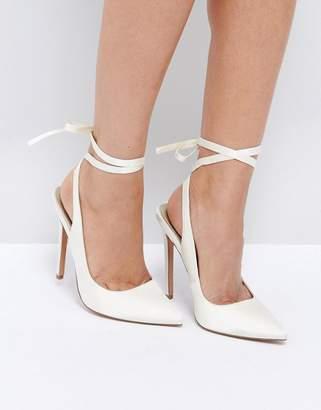 Asos Pipe Down Bridal Pointed High Heels