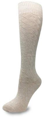 SILKS Wide Cable Knee High Socks
