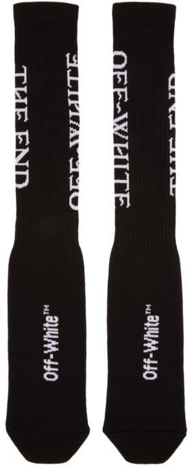 Off-White Black 'The End' Socks